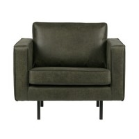 Home - Fauteuil leer, Forest Green