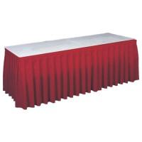 Tafelrok rood (incl. clips), lengte 575 cm.