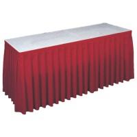 Buffetrok rood, lengte 595 cm.
