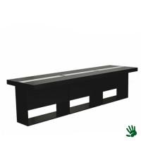 Highlight zittafel lang zwart