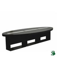 Highlight zittafel ovaal zwart