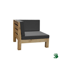 Oak Outdoor loungebank hoekdeel, grijs