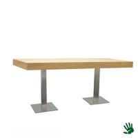 Oak zittafel lang, met RVS onderstel