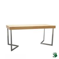 Oak zittafel lang, met V-vorm onderstel
