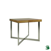 Palissander zittafel, 80x80, met V-vorm onderstel