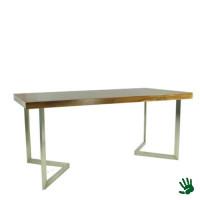 Palissander zittafel lang, met V-vorm onderstel