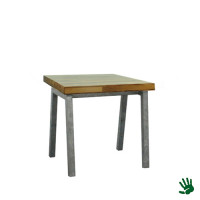 Palissander zittafel 80x60, met Steel onderstel