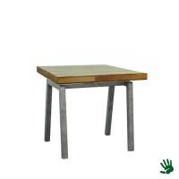 Palissander zittafel, 80x80, met Steel onderstel