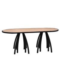 Hot Metal zittafel ovaal