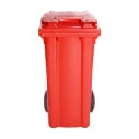 Afvalcontainer rood, 120 liter