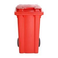 Afvalcontainer rood, 240 liter