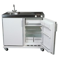 Keukenblok incl. boiler, koelkast 180 liter, 2-pits kookplaat, elektrisch