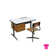 Schoolbankje met stoel