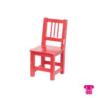 Kinderstoel hout 1-4 jaar, rood