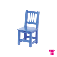 Kinderstoel hout 1-4 jaar, blauw