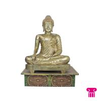 Boeddha zittend, goud
