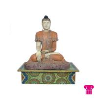 Boeddha zittend, oranje