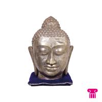 Boeddha hoofd, zilver