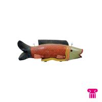 Gekleurde vis hout groot